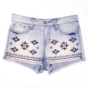 Roxy Print Jean Shorts
